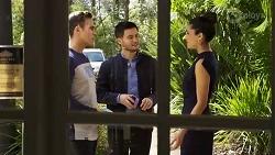 Aaron Brennan, David Tanaka, Yashvi Rebecchi in Neighbours Episode 8240