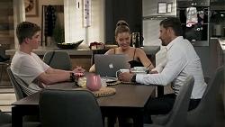 Hendrix Greyson, Chloe Brennan, Pierce Greyson in Neighbours Episode 8240