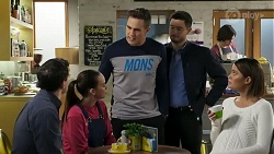 Finn Kelly, Bea Nilsson, Aaron Brennan, David Tanaka, Elly Conway in Neighbours Episode 8240