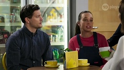 Finn Kelly, Bea Nilsson, Elly Conway in Neighbours Episode 8240