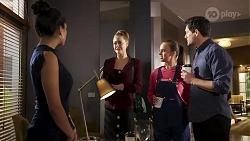 Yashvi Rebecchi, Chloe Brennan, Bea Nilsson, Finn Kelly in Neighbours Episode 8240