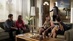Finn Kelly, Bea Nilsson, Ned Willis, Aaron Brennan, Yashvi Rebecchi in Neighbours Episode 8241