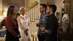 Harlow Robinson, Prue Wallace, Aaron Brennan, David Tanaka in Neighbours Episode 8243