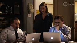 Toadie Rebecchi, Amy Williams, Kyle Canning in Neighbours Episode 8243