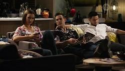 Amy Williams, Aaron Brennan, David Tanaka in Neighbours Episode 8243