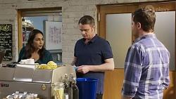 Dipi Rebecchi, Gary Canning, Shane Rebecchi in Neighbours Episode 8245