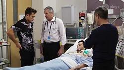 Aaron Brennan, Karl Kennedy, David Tanaka, Paul Robinson in Neighbours Episode 8245