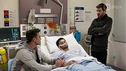 Aaron Brennan, David Tanaka, Ned Willis in Neighbours Episode 8246