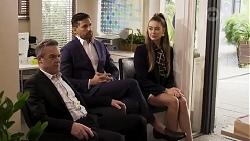 Paul Robinson, Pierce Greyson, Chloe Brennan in Neighbours Episode 8246