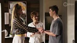 Chloe Brennan, Susan Kennedy, Hendrix Greyson in Neighbours Episode 8247
