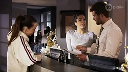 Bea Nilsson, Yashvi Rebecchi, Ned Willis in Neighbours Episode 8247