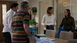 Finn Kelly, Karl Kennedy, Elly Conway, Bea Nilsson in Neighbours Episode 8250