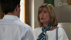 Finn Kelly, Claudia Watkins in Neighbours Episode 8250