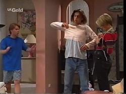 Brett Stark, Malcolm Kennedy, Danni Stark in Neighbours Episode 2356