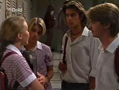 Libby Kennedy, Danni Stark, Malcolm Kennedy, Brett Stark in Neighbours Episode 2358
