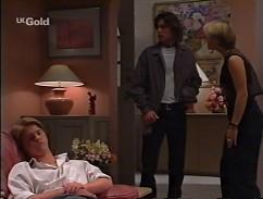 Brett Stark, Malcolm Kennedy, Danni Stark in Neighbours Episode 2358