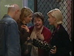 Luke Handley, Danni Stark, Marlene Kratz, Joanna Hartman in Neighbours Episode 2656