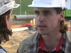 Darren Stark, Site Manager in Neighbours Episode 2656