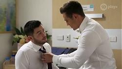 David Tanaka, Aaron Brennan in Neighbours Episode 8251