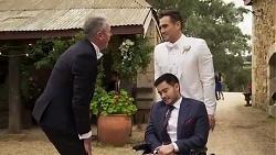 Karl Kennedy, David Tanaka, Aaron Brennan in Neighbours Episode 8251