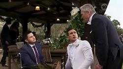 David Tanaka, Aaron Brennan, Karl Kennedy in Neighbours Episode 8251