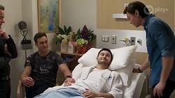 Paul Robinson, Aaron Brennan, David Tanaka, Leo Tanaka in Neighbours Episode 8253