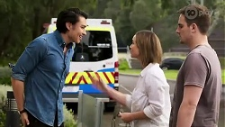 Leo Tanaka, Amy Williams, Kyle Canning in Neighbours Episode 8253