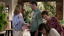 Claudia Watkins, Finn Kelly, Elly Conway, Susan Kennedy in Neighbours Episode 8253