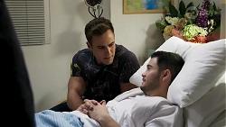 Aaron Brennan, David Tanaka in Neighbours Episode 8253