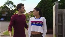 Ned Willis, Yashvi Rebecchi in Neighbours Episode 8254