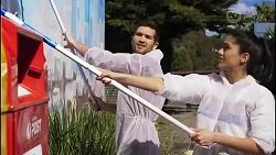 Finn Kelly, Yashvi Rebecchi in Neighbours Episode 8254