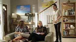 Terese Willis, Harlow Robinson, Leo Tanaka in Neighbours Episode 8255