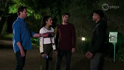 Shane Rebecchi, Yashvi Rebecchi, Ned Willis, Kane Jones in Neighbours Episode 8255