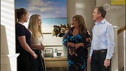 Harlow Robinson, Roxy Willis, Terese Willis, Paul Robinson in Neighbours Episode 8256