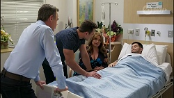 Paul Robinson, Aaron Brennan, Terese Willis, David Tanaka in Neighbours Episode 8256