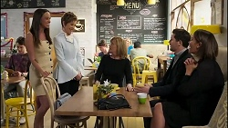 Bea Nilsson, Susan Kennedy, Claudia Watkins, Finn Kelly, Elly Conway in Neighbours Episode 8256