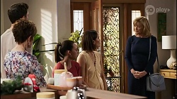 Finn Kelly, Susan Kennedy, Bea Nilsson, Elly Conway, Claudia Watkins in Neighbours Episode 8257
