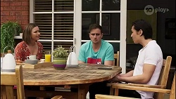 Amy Williams, Kyle Canning, Leo Tanaka in Neighbours Episode 8260