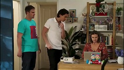 Kyle Canning, Leo Tanaka, Amy Williams in Neighbours Episode 8260