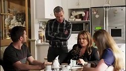 Ned Willis, Paul Robinson, Terese Willis, Harlow Robinson in Neighbours Episode 8260