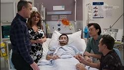 Paul Robinson, Terese Willis, David Tanaka, Leo Tanaka, Aaron Brennan in Neighbours Episode 8261