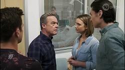 Aaron Brennan, Paul Robinson, Amy Williams, Leo Tanaka in Neighbours Episode 8261