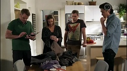 Gary Canning, Amy Williams, Kyle Canning, Leo Tanaka in Neighbours Episode 8262