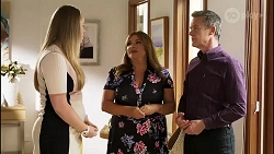 Harlow Robinson, Terese Willis, Paul Robinson in Neighbours Episode 8262