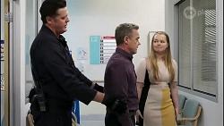 Hayden Partridge, Paul Robinson, Harlow Robinson in Neighbours Episode 8262