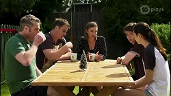 Gary Canning, Kyle Canning, Amy Williams, Jimmy Williams, Maya Preston in Neighbours Episode 8262