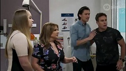 Harlow Robinson, Terese Willis, Leo Tanaka, Aaron Brennan in Neighbours Episode 8262