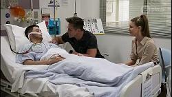 David Tanaka, Aaron Brennan, Chloe Brennan in Neighbours Episode 8263