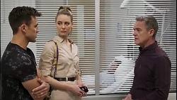 Aaron Brennan, Chloe Brennan, Paul Robinson in Neighbours Episode 8263