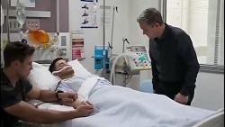 Aaron Brennan, David Tanaka, Paul Robinson in Neighbours Episode 8263